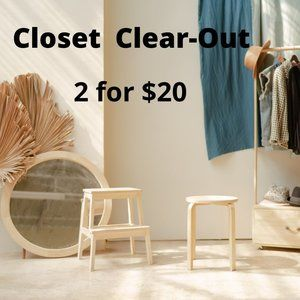2 FOR $20 Closet Clear-Out SALE
